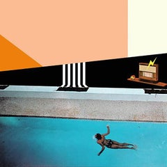 Cool Waters 1979 - Surrealist Collage Art Print