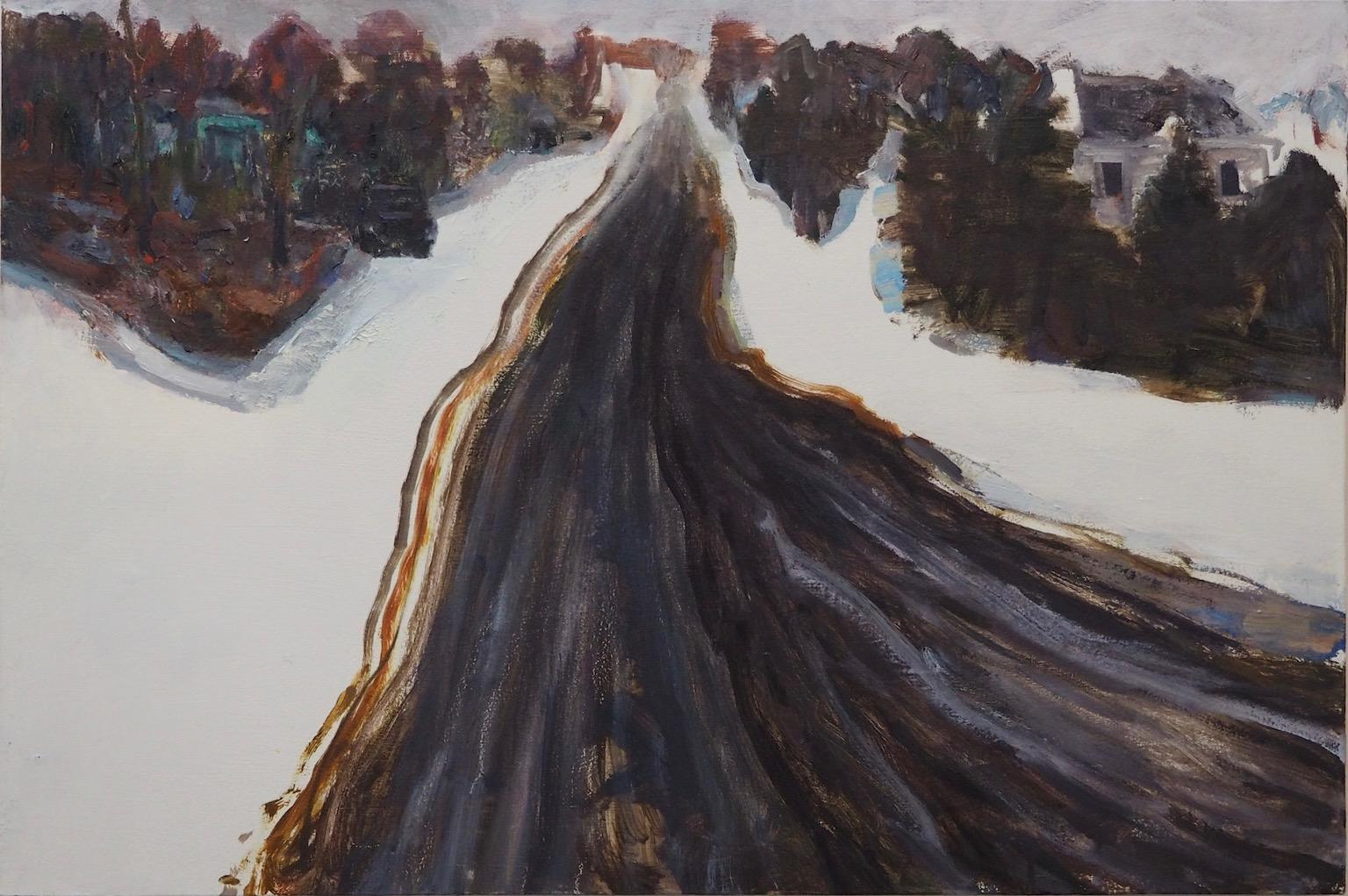 """""""Road Out of Town"""" Contemporary Landscape painting in Impressionist Style"""