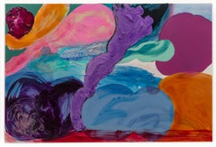 """""""Baroque Plum"""" Contemporary Large Scale Abstract Painting"""
