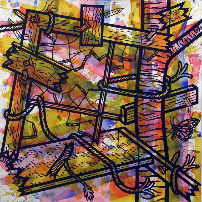 Jesse Lambert Abstract Painting - View #2