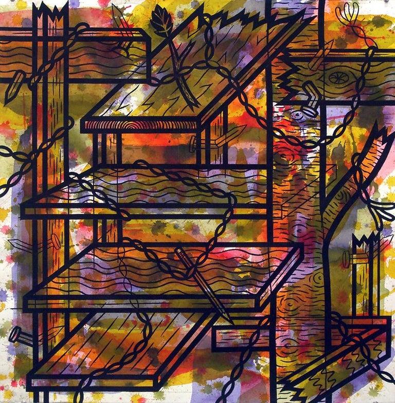 Jesse Lambert Abstract Painting - Shelves