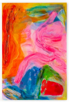 """'Pink Orange Summit"""", Large Scale Abstract Painting"""
