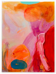 """""""Orange Pool"""" Contemporary Abstract Painting"""