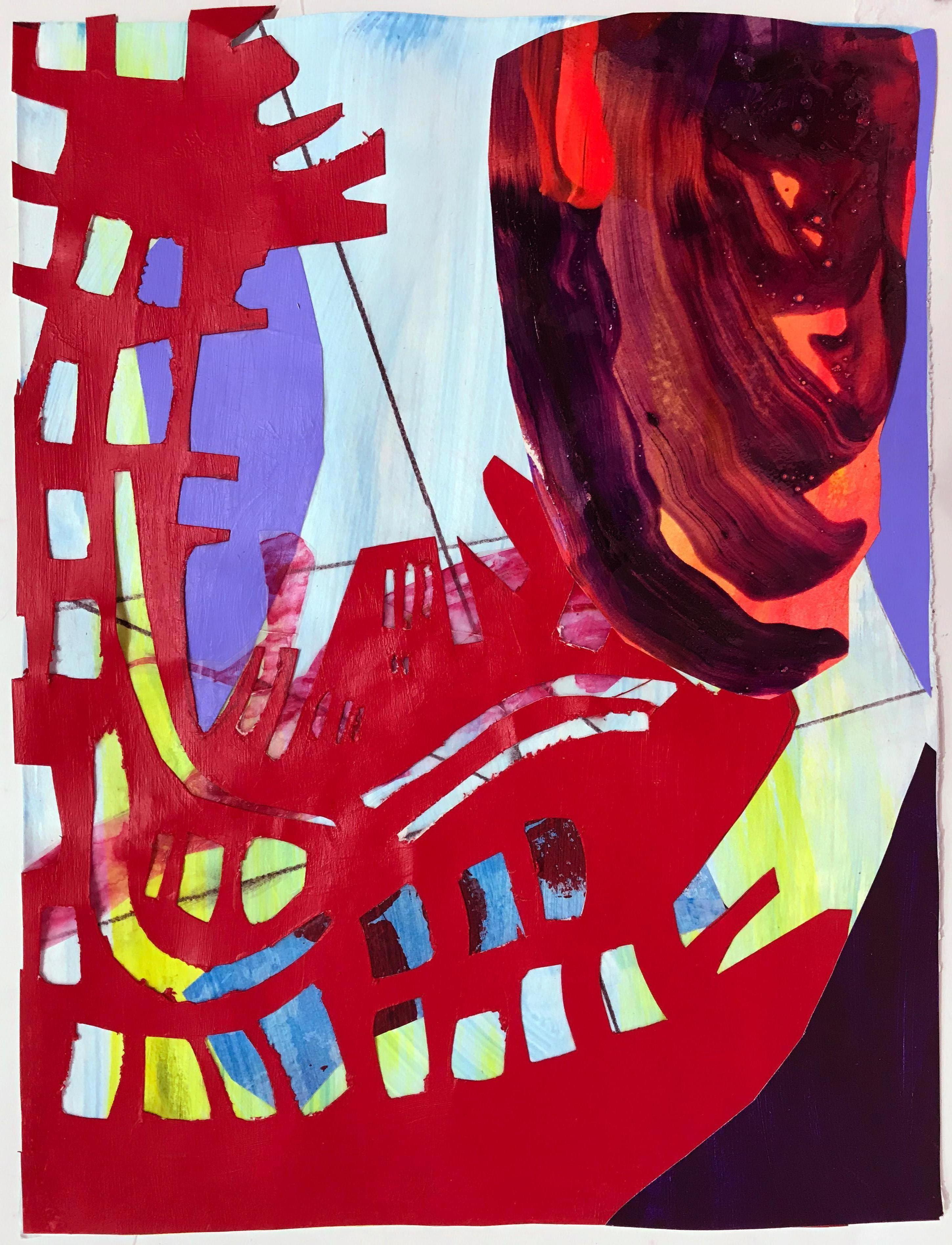 """Sea Level Kaneohe Bay"" Contemporary Abstract Painting"
