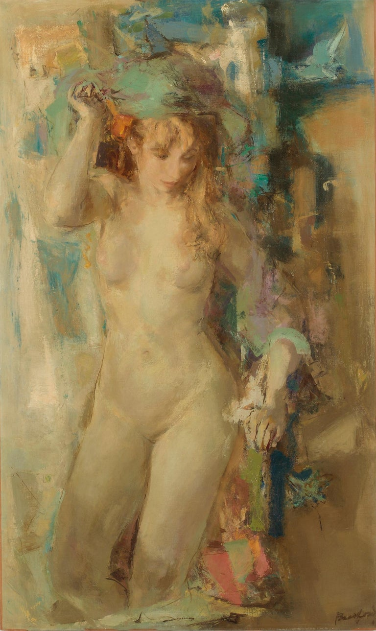 William Bassford Figurative Painting - Early Morning Figure