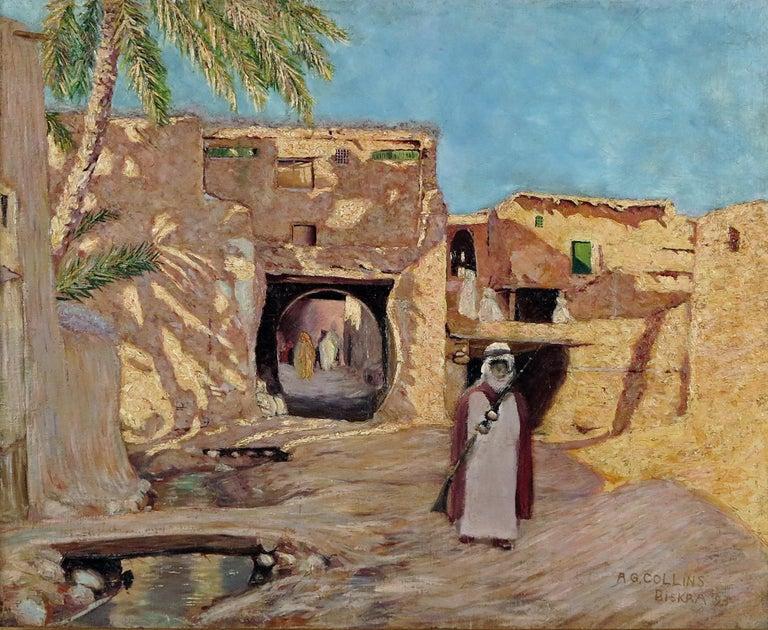Arthur George Collins Landscape Painting - Biskra Algeria