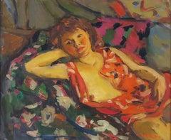 Jeune Femme Alonge