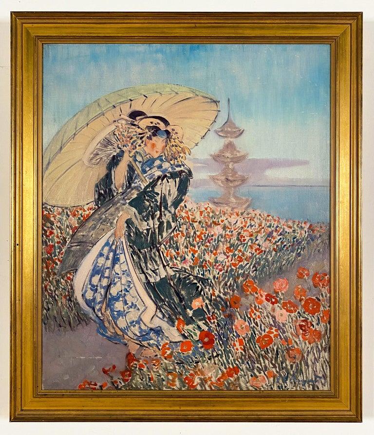 Everett Lloyd Bryant Figurative Painting - Woman in Kimono