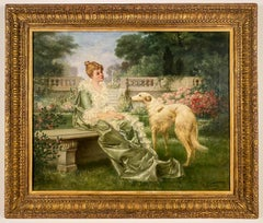 Lady with a Borzoi (Russian Wolfhound)