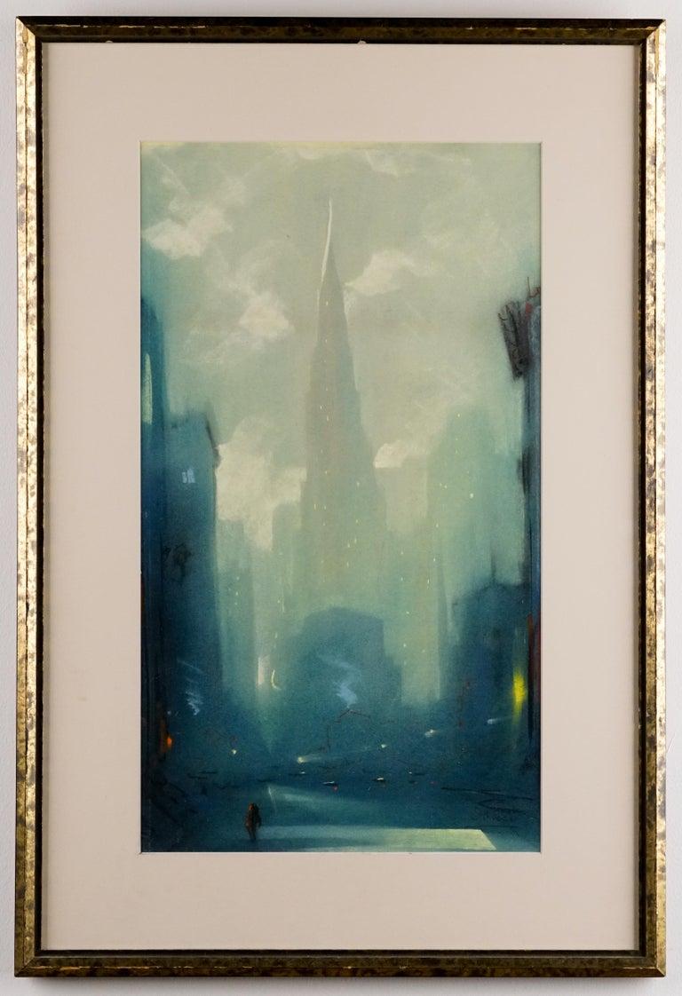 Leon Dolice Landscape Art - Manhattan Skyline