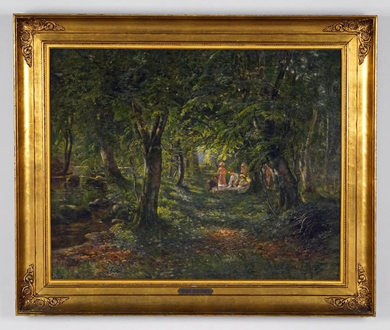 Figures in the Forest - Painting by Carl Carlsen