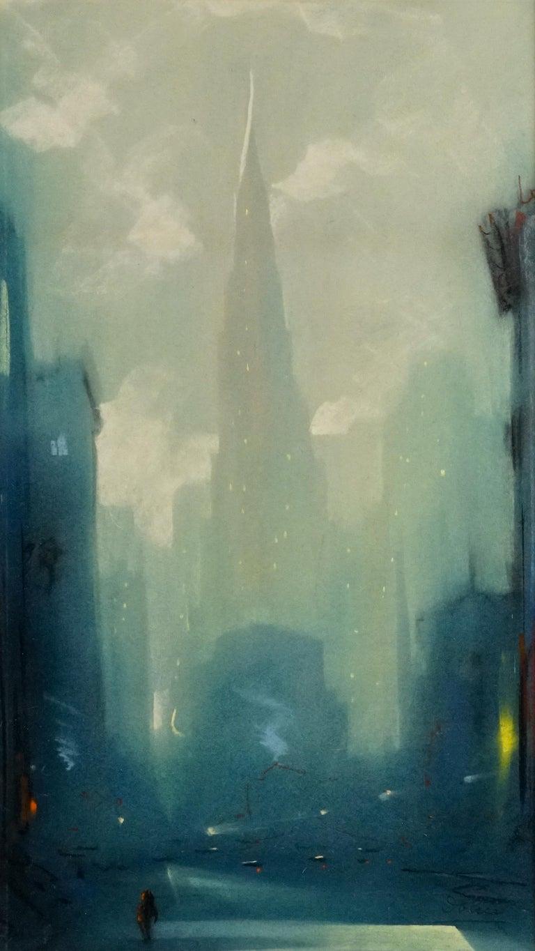 Manhattan Skyline - Art by Leon Dolice