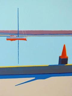 Orange Cone on a Dock, Morro Bay