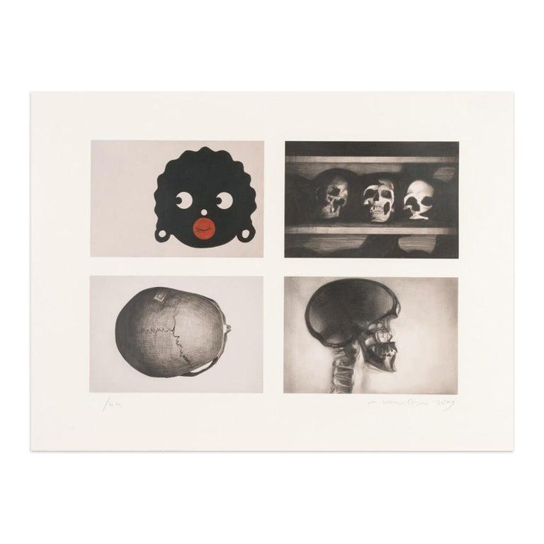 Marcel van Eeden Figurative Print - Untitled, Contemporary Artist, Figurative Drawing, 21st Century Art