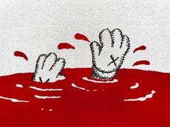 Red Blanket, Cashmere, Contemporary Art, Street Art, Urban Art