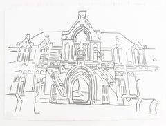 Vorburg, Graphite Drawing, Pop Art, Architecture, Modern Art, 20th Century