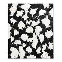Lichtungen I, Woodcut, Abstract Art, Zero, Minimalism