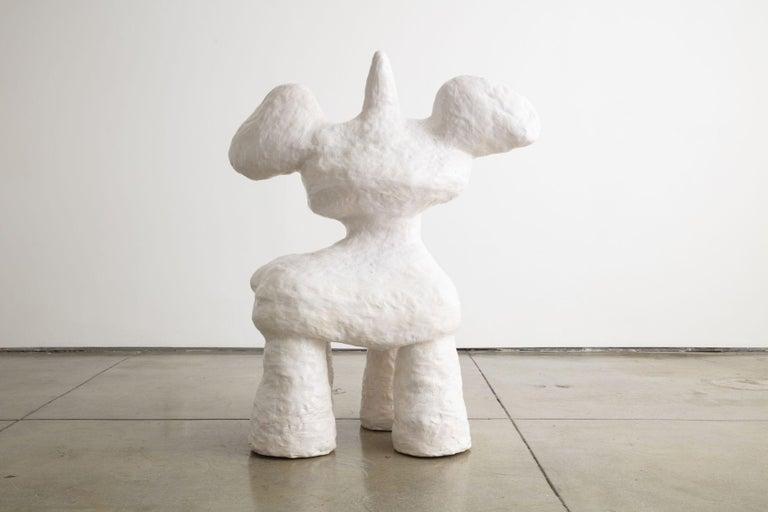 Golden Heart Bambi Wannabe Unicorn - Sculpture by Jasmin Anoschkin