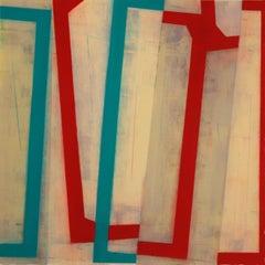 """Steve Baris """"Jump Cut D4"""" -- Abstract Oil Painting on Mylar"""
