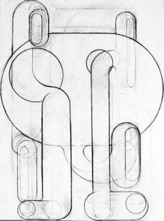 "Deborah Zlotsky ""Ligurian 2"" - Charcoal on paper"