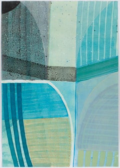"""Ky Anderson """"Star School 19.23"""" - Abstract acrylic and ink on watercolor paper"""