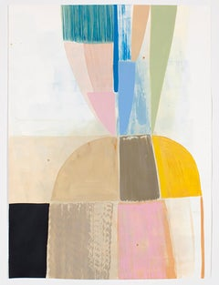 Ky Anderson Push Over, 2021 acrylic and ink on watercolor paper 57 x 42 in. (and
