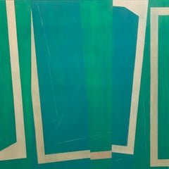 """Steve Baris """"Jump Cut D5"""" -- Abstract Oil Painting on Mylar"""