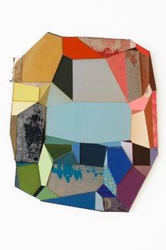 "Conny Goelz Schmitt ""Small Window of Time"" -- Abstract Wall Sculpture"