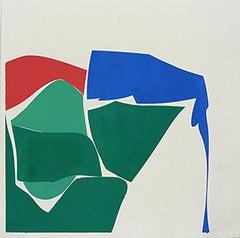 "Joanne Freeman ""Summer Multi 1"" -- Abstract Painting on Handmade Paper"