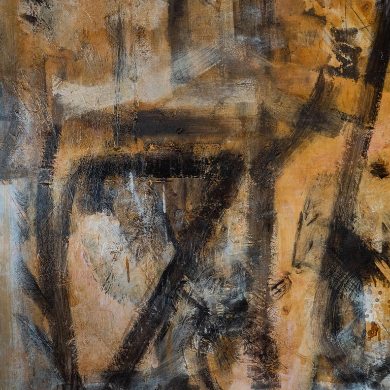 Understanding Dharmata - The Unconditioned Truth - Brown Abstract Painting by Alexander Markovich