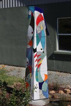 Bird House ceramic water feature