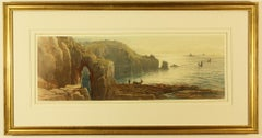 Gamper Arch and the Longships Light House by Thomas Hart FSA