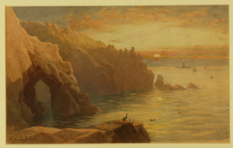 Gamper Arch, The Lands End and Longships Lighthouse by Thomas Hart FSA For Sale 1