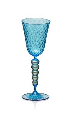Copper Blue Goblet