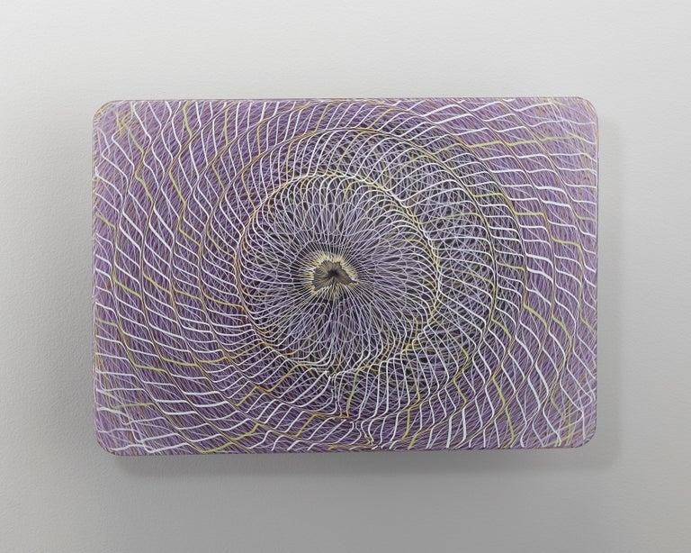 Joshua Bernbaum Abstract Sculpture - Extroverre Purple, Black, and White