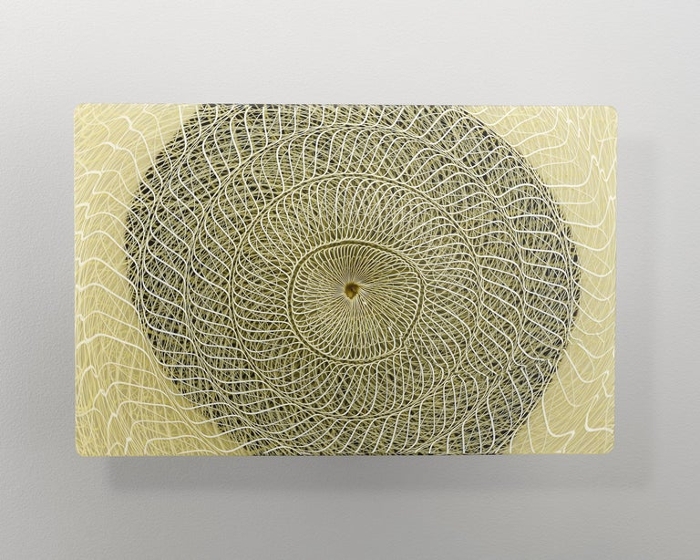 Joshua Bernbaum Abstract Sculpture - Extroverre Amber, Black, and White