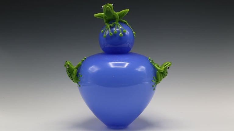 Joe Peters and Peter Muller Figurative Sculpture - Frog Vase