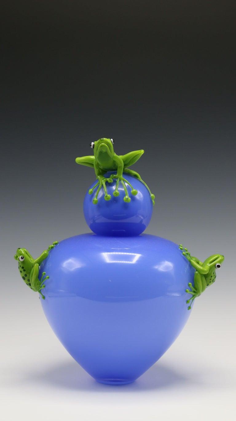 Frog Vase - Sculpture by Joe Peters and Peter Muller