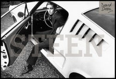 TWIGGY WITH HER MUSTANG FASTBACK, SURREY, 1967. - Portrait, Black & White Photo