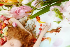 Flora 08 - Contemporary Photography, Floral, Female Nude, Roses, Irises, Color