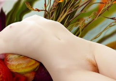 Flora 09 - Contemporary Photography, Floral, Female Nude, Orange flowers, Body