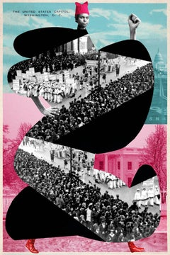 Plate No. 155, The Women's March on Washington 2017 (Abstract, Collage)