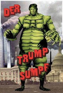 Plate No. 250 (Abstract, Collage, Trump, Hulk)