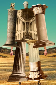 Plate No, 150 (Abstract, Collage, Greek Columns, History)