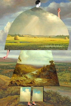 Plate No. 225 (Abstract, Collage, Renaissance Landscape)