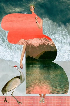 Plate No. 339 (Abstract, Collage, Seaside, Waves)