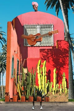Plate No. 355 (Abstract, Collage, Guitar, Cactus)