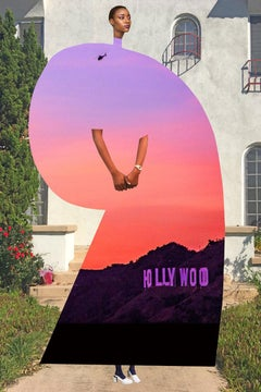 Plate No. 356 (Abstract, Collage, Hollywood, Sunset)