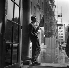 Cary in the Rain, 1957 - 20th Century Photography, Cary Grant, Movies, Hollywood