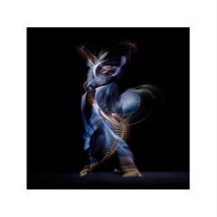 Abstract Dancers, Dark Blue 4, 2019 - Contemporary Photography, Ballet, Dancers